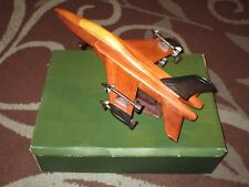 BOXI Arts Classics Handcrafted Wood Airplane Fighter Jet Model F-15 *RARE*