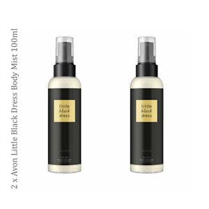 2 x Avon Little Black Dress Body Mist Spritz // Fragrance Perfumed Spray 100ml