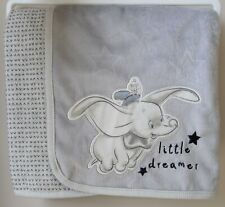 Disney Baby Boys Dumbo Fleece Blanket Adorable Newborn Gift BNWT