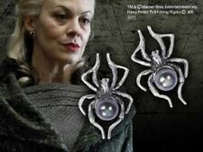 SPIDER EARRINGS HARRY POTTER NARCISSA MALFOY SILVER PLATED FRESHWATER PEARL