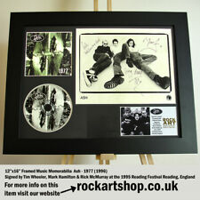 More details for ash 1977 signed tim wheeler +mark+rick 1995 reading festival autographed *world
