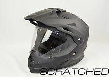 Blem Fly Racing Trekker Dual Sport Motard Matte Black Motorcycle Helmet LARGE