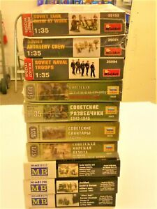 Huge Lot Soviet 1/35 Scale Military Figures 10 Sets New Sealed