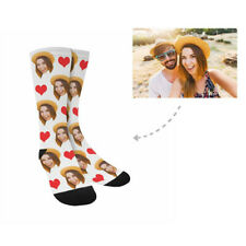 Custom Socks with Faces Personalized Photo on Socks Leg Warmers Love Heart