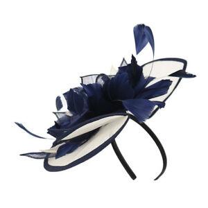 Sinamay Flower Feather Alice Headband Hat Fascinator Race Royal Ascot Hair Band