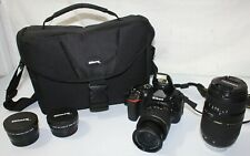 Nikon D5600 Digital Slr Camera 24.2 Mp w/18-55mm + 75-300mm Lens 1990 Clicks!