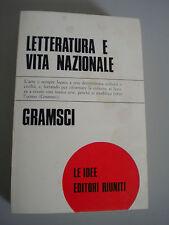 Letteratura e vita nazionale - GRAMSCI - Editori Riuniti Le idee 124