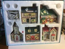 Noma & Other Used Christmas Holiday 5 Village Ceramic Lights