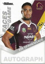 2018 NRL Traders Faces of the Game (FG 1 / 64) Joe OFAHENGAUE BRONCOS