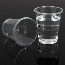 Good 100 Clear Plastic Disposable Cup Cake Jelly Cups Bakery Supplies No Lid