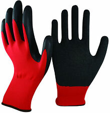 12-120 HAND PROTECTION QUALITY LATEX COATED CRINKLE BUILDERS WORK SAFETY GLOVES