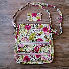 Vera Bradley Make Me Blush Mailbag Crossbody Hipster Bag & ID Wallet RETIRED