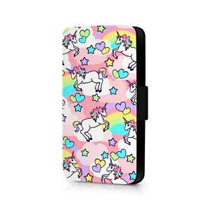 Unicorn Rainbow Hearts Phone Flip Case For iPhone