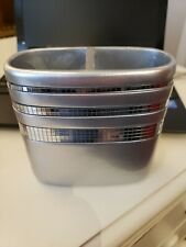 Mirror Mosaic  gray two compartments - Bathroom Tooth Brush Holder