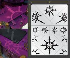 Chaotic Stars Airbrush Stencil Texture Patern Schablonen Maskierung Gestaltung