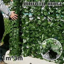 1*3m Artificial Ivy Leaf Fence Green Garden Privacy Screen Hedge Plants Outdoor