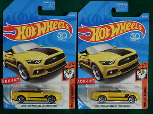 2018 Hot Wheels ~ MUSCLE MANIA #2/10 ~ 2015 Ford Mustang GT Convertible ~ 2 Cars