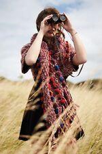 NWT ~ Anthropologie Handknit Pom Wrap  M/L ~  By Dollie
