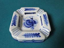 Gzhel iRUSSIAN CERAMIC POTTERY BLUE WARE ASHTRAY  [*3CPOTT]