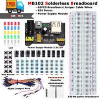 MB102 Solderless Breadboard Protoboard 830 Tie Point Test Circuit PCB Set