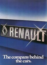 Renault Company Cars Trucks Tractors 1978 - UK Sales Brochure Own Collection VGC