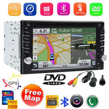 "GPS Navigation With Map Bluetooth Radio Double Din 6.2""Car Stereo DVD Player VCD"