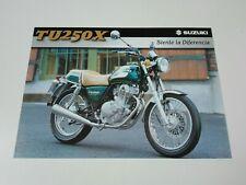 Prospectus Catalogue Brochure Moto Suzuki TU 250 X 1999 Espana