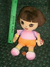 "Ty Beanie ~ DORA ~ Buddy (plush hair) ~ 11"" tall ~ MWMT~ Retired ~ HTF ~ 2014"
