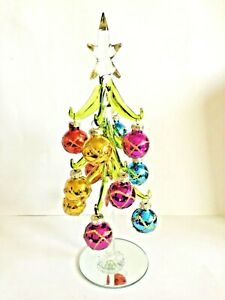 New Decorated 25cms large glass ornament Christmas Tree Baubles Glitter Free P&P