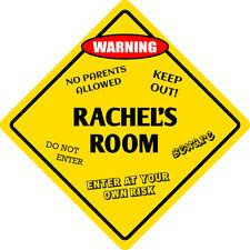 """*Aluminum* Rachel's Room Kids Room Door 12""""x12"""" Metal Novelty Sign"""