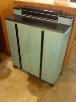 "Vintage 1940""s Dental Cabinet Art Deco Mid Century Modern Storage (OF)"