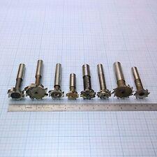 T-Slot Cutter Mill Set (9 pcs: 6 HSS, 2 Carbide) T-Nutfräser Satz (6 HSS; 2 VHM)