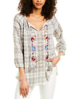 Johnny Was Angelique Eyelet Peasant Blouse Women's