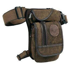 1pcs Men's Canvas Drop Leg Bag Waist Fanny Pack Belt Hip Bum Military Tactical