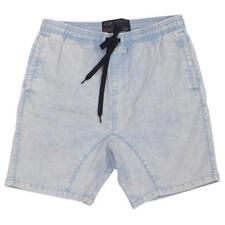 Oakley SCOTTY VOLLEY Shorts Size 34 L Bleached Blue Wash Mens Casual Short