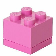 Mini Lego Storage 4 Brick Multiple Colours Small Snacks Sweets Pink 1