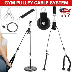 Fitness Pulley Cable Machine System Arm Biceps Triceps Workout DIY Equipment hot