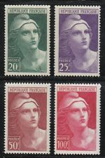 France 1945 MNH Mi 703-706 Sc 553-556 Marianne de Gandon set **