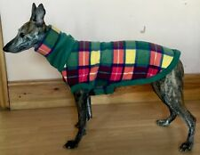 S/M Whippet Fleece Coat With Snood /whippet House Coat/sweatshirt
