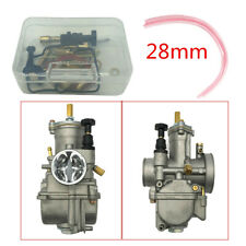 1 Pc Aluminum 28mm Carburetor + Repair Kit for 2 Stroke 47CC/49CC Mini Quad/ATV