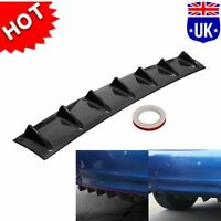 85cm Universal Shark Fin 7 Wing Lip Rear Bumper Diffuser Spoiler Gloss Black ABS
