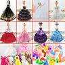 10Pcs Wedding Fashion Gown Dresses & Clothes 10 Shoes For Barbie Doll DIY