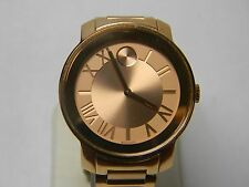 Movado BOLD Rose Gold Ion Plated Stainless Steel Bracelet 39mm Watch
