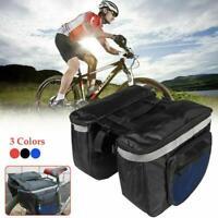 Double Panniers Waterproof Bag Bike Bicycle Cycling Seat Rack Pack Rear H4K4