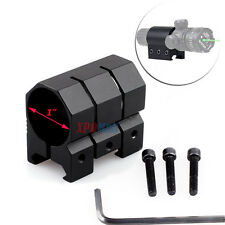 """Weaver/Picatinny Rail Mount for 1"""" Tactical Flashlight Laser Sight Tube Mounting"""