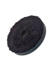 FLEXIPADS 125mm BLACK MICROFIBRE PRO FINISHING PAD - 19mm ALIGNMENT/COOLING HOLE