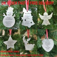 Personalised Christmas Tree Bauble Decoration Xmas Ornament Metal Custom Gift