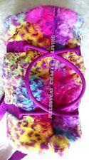 LATEST! SMIGGLE GIRL TEEN LADY'S FLUFFY FURRY BARREL BAG - RAINBOW LEOPARD