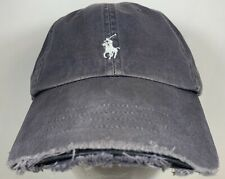 Polo Ralph Lauren Cap Golf Boat Sail Hike Pony Hat Distressed Faded Gray Ocean