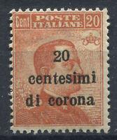 Trento e Trieste 1919 Sass. 5 Nuovo ** 80% 20 centesimi di corona  su 20 c --